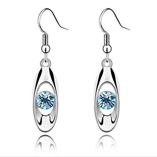 (Iumer Fashion Crystal Drop Earring Oval Dangle Earrings)