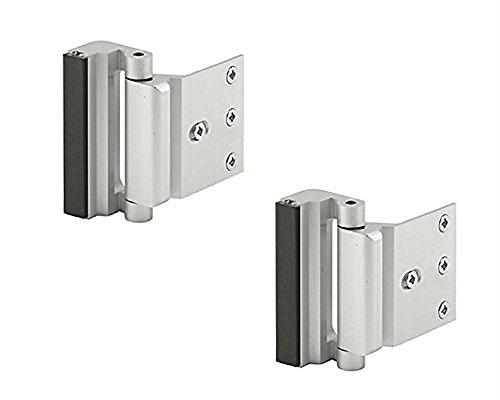 Prime Line High Security 3 Inch Door Reinforcement Lock U-10827 Satin Nickle Finish (2 Pack)