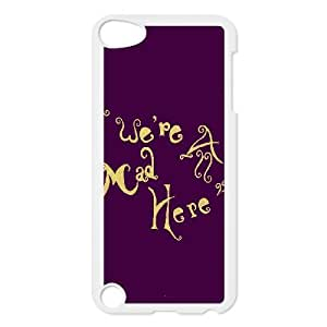 New Fashion Durable Hard Phone Case Cover for Ipod Touch 5 Case Cover - We Are Mad Here HX-MI-049751