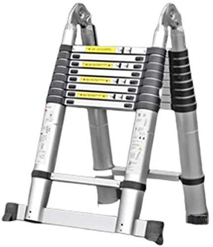 はしご アルミ台 伸縮はしご ノンスリップペダル防止ピンチでエンジニアリング伸縮式はしご、アルミ多目的ワンボタン後退折りたたみラダー 便座とフレーム (Size, 3.6m),1.5m