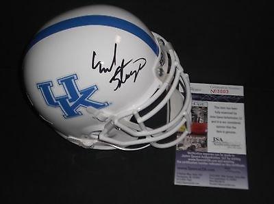 Mark Stoops Kentucky Wildcats Autographed Signed Mini White Helmet JSA COA 2