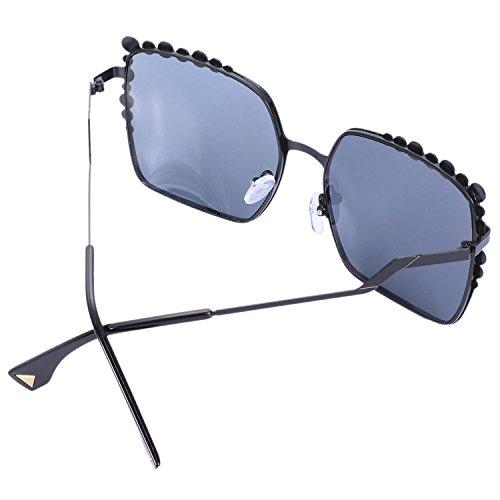 sol tamano Big Mujer gran de UV400 Mujeres Fashion Ladies Negro de Sol Negro Gafas Gradient Eyewear Gafas TOOGOO Vintage Mirror de Square wFq6nI7xq0