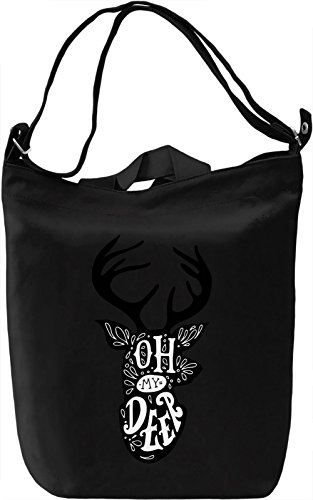 Oh deer Borsa Giornaliera Canvas Canvas Day Bag| 100% Premium Cotton Canvas| DTG Printing|
