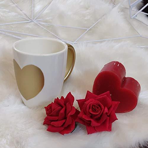 Stallion Barware Unbreakable Polycarbonate Coffee Mug Golden Heart  Set of 1  cm GH 1