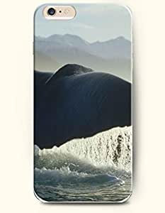 iPhone 6 Case,OOFIT iPhone 6 (4.7) Hard Case **NEW** Case with the Design of Whale and Its Big Tail - ECO-Friendly Packaging - Case for Apple iPhone iPhone 6 (4.7) (2014) Verizon, AT&T Sprint, T-mobile