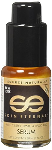 Source Naturals Skin Eternal Serum Moisturizing Skin Food with C-Ester, DMEA, Lipoic Acid & More - 1.7oz