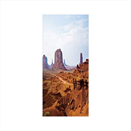 (Decorative Window Film,No Glue Frosted Privacy Film,Stained Glass Door Film,Monument Valley View from John Fords Point Merritt Butte Sandstone Image Decorative,for Home & Office,23.6In. by 35.4In Baby )