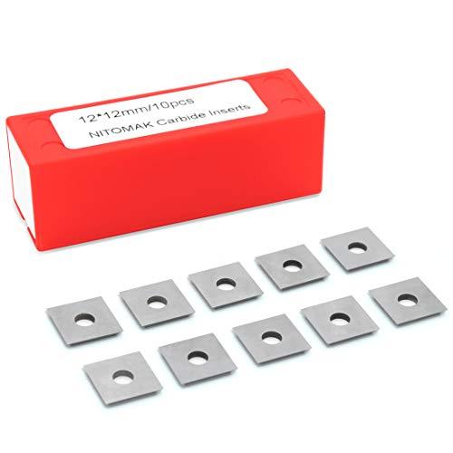 NITOMAK 12mm Square Corners Carbide Inserts 4 Edges
