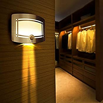Fding LED Wall Light Light-Operated Motion Sensor Nightlight Activated Battery Operated Wall Sconce
