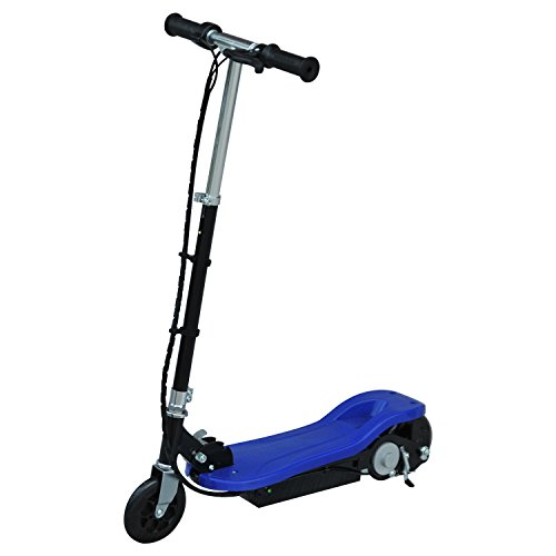 Aosom 24V Battery Powered Height Adjustable Foldable Kids Ride-On Electric Motorized E-Scooter - Blue