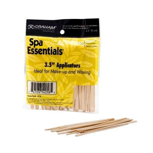 - Graham Spa Essentials Lip Applicators 100 Wooden Hair Waxing Makeup 3.5