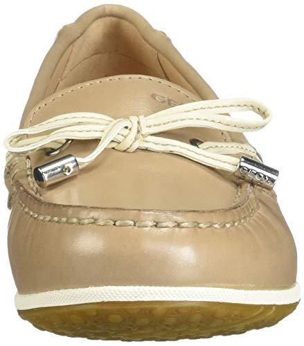 Geox D cream Vega Ch65k Mocassins Taupe B loafers Femme Moc lt HZ7qZ