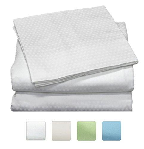 400 Thread Count 100% Long Staple Cotton Sheet Set, Dobby Sa