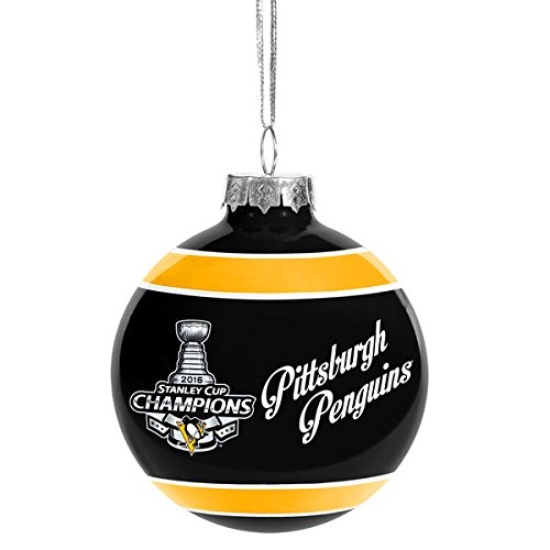 Pittsburgh Penguins 2016 Stanley Cup Champions Glass Ball Ornament