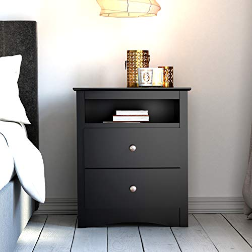 home, kitchen, furniture, bedroom furniture,  nightstands 8 discount Prepac Sonoma Tall 2-Drawer Nightstand, Black promotion