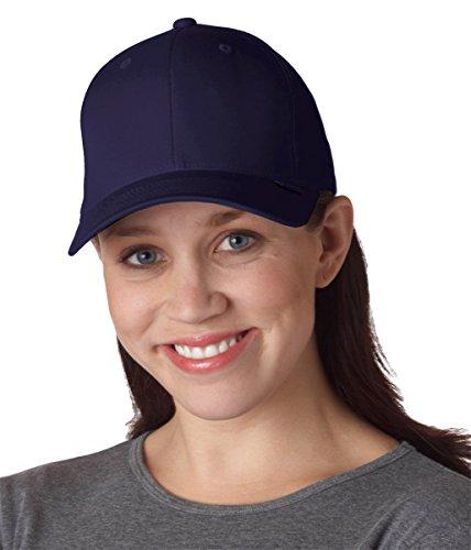 Premium Original Flexfit V-Flexfit Cotton Twill Fitted Hat 5001 2-Pack (S-M, Black/Navy)