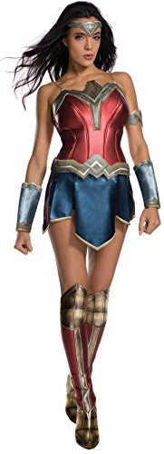 Secret Wishes Women's Wonder Woman Costume with Boot Tops, As/Shown, Medium