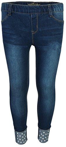 - WallFlower Jeans Girls Soft Denim Stretchy Jeggings, Dark Wash w/Pearls, Size 7/8'