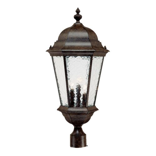 (Acclaim 5527BC Telfair Collection 3-Light Post Mount Outdoor Light Fixture, Black Coral)