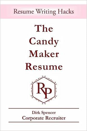 The Candy Maker Resume: - Resume Writing Hacks (Resume Psychology ...