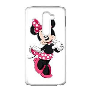 LG G2 Cell Phone Case White Disney Mickey Mouse Minnie Mouse 003 CVXEYERTE19836 Plastic Back Phone Case
