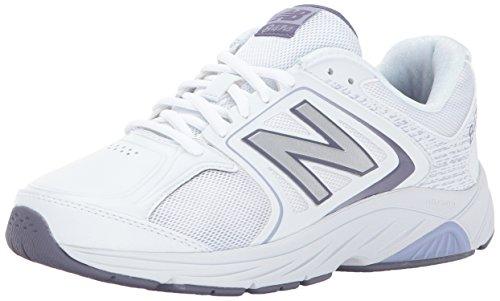 New Balance Women's 847V3 Walking Shoe, White/Grey, 9 2A US