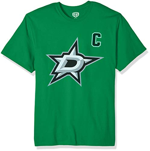 NHL Dallas Stars Jamie Benn Mens Player OTS Rival Teenhl Player Rival Tee, Jamie Benin - Kelly, X-Large