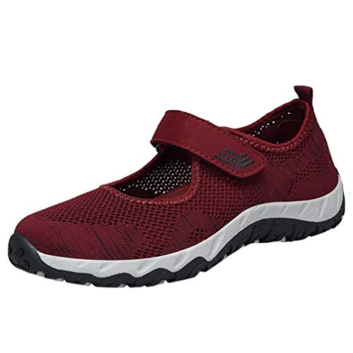 Tessuto 6 Donna in da Casual Scarpe UOMOGO Leggero Traspiranti Corsa Rosso Sneakers da ACqpwY