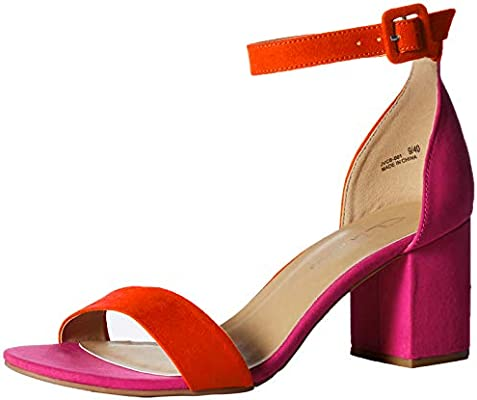 6aee718b810 CL by Chinese Laundry Women's Jody Heeled Sandal, Orange/hot Pink ...