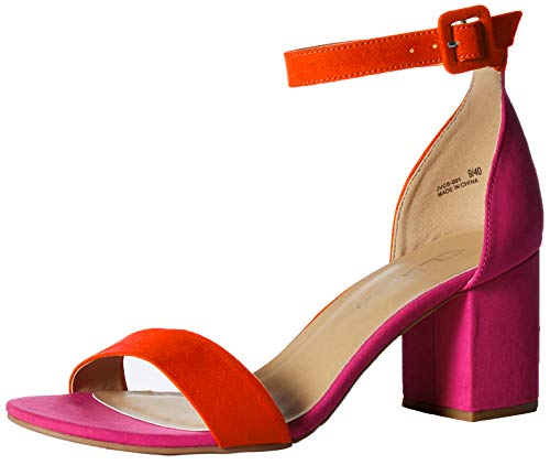 CL by Chinese Laundry Women's Jody Heeled Sandal, Orange/hot Pink Suede, 7.5 M US -