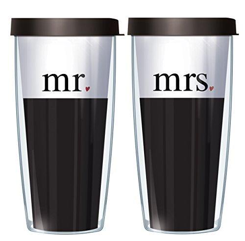 Mr & Mrs 1 Corinthians 13 Scripture Set Traveler 16 Oz Tumbl