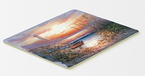 Caroline's Treasures APH4130CMT Lighthouse Scene With Boat Kitchen Or Bath Mat, 20