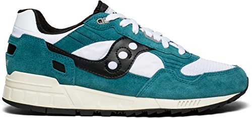 Saucony Mens Teal/White/Black Shadow 5000 Vintage Trainers Turquoise p6vGL