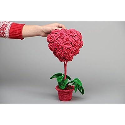 Heart-shaped Crochet Decorative Tree: Home & Kitchen