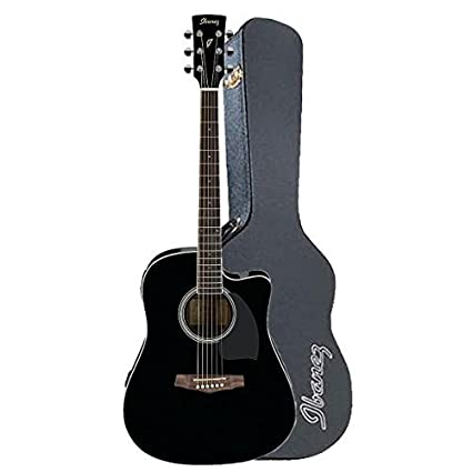 Amazon.com: Ibanez pf15ecebk acoustic-electric Dreadnought ...