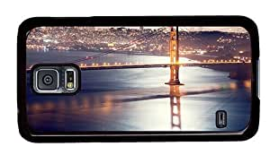 Hipster original Samsung Galaxy S5 Cases Golden Gate San Francisco PC Black for Samsung S5