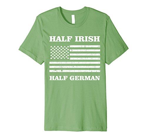 Half Irish Half German Shirt St Pattys Day American Flag