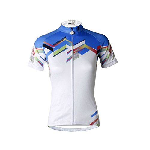 Jersey Jacket Sleeve Bike Women's Outdoors Top Quick Shirt Wicking Clothing Cycling Mountain Breathable White Sports Moisture Multicolore Short Dry RtIxwqx5f