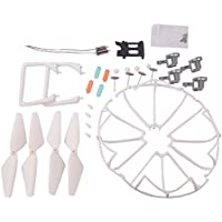 YouCute Spare Part Kit for U45 Raven U45W Blue Jay U42 U42W U42WH CW4 Blue Jay Raven Rc Quadcopter Drone Blade Gear Lading Gear Motor Frame Gear(New) (White large kit)