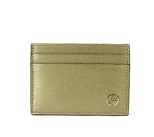 Gucci Gold Shiny Leather Betty GG Logo Card Case Holder 334483 - Gold Logo Gucci