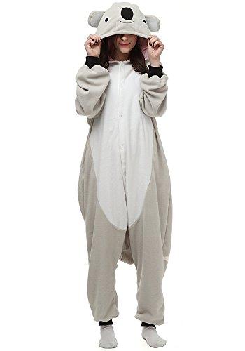 Koala Bear Kigurumi Cartoon Cosplay Costume Animal One-Piece Pajamas (L (Height:5'7''-5'10''/170cm-178cm), Grey)