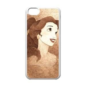 La Bella y la Bestia caso 5c funda iPhone I9I89O9HD funda X15TY2 blanco