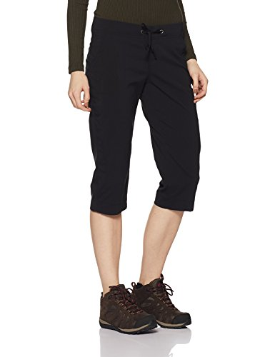 Columbia Women's Anytime Outdoor Capri, Water and Stain Repellent, Black, ()
