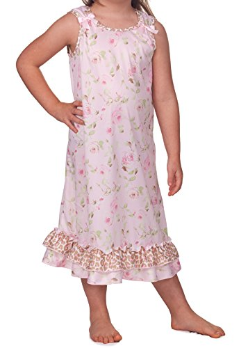 Laura Dare Little Girls Posh Pink Bow Top Gown, Size 3t