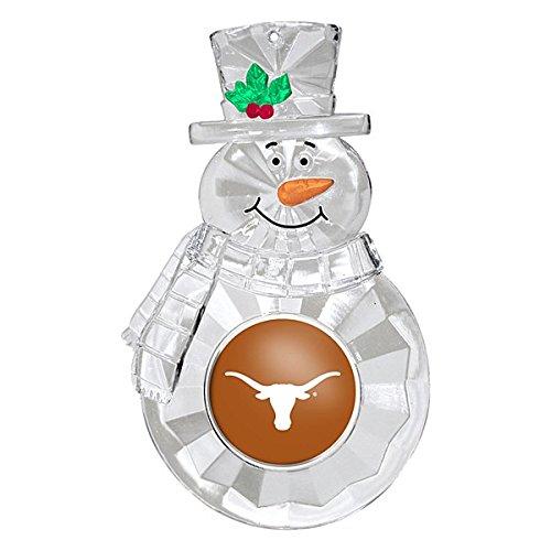 (NCAA Texas Longhorns Traditional Snowman Ornament)