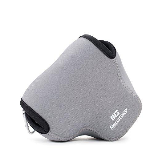 MegaGear Ultra Light Neoprene Camera Case Bag with Carabiner for Panasonic Lumix DMC-FZ300 Digital Camera (Grey)