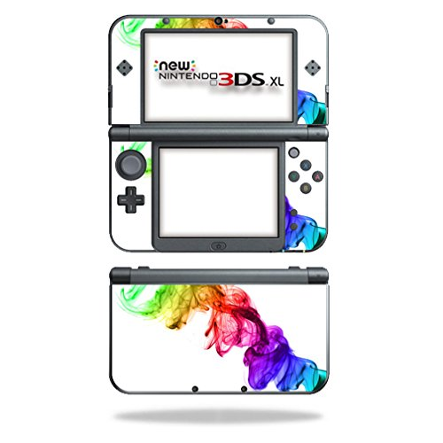 MightySkins Skin Compatible with Nintendo 3DS XL (2015) - Rainbow Smoke | Protective, Durable, and Unique Vinyl Decal wrap Cover | Easy to Apply, Remove, and Change Styles | Made in The USA