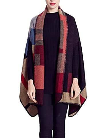 Women Winter Plaid Scarf Soft Warm Blanket Large Tartan Wrap Shawl Pashminas (red) (Under The Gunn Season 2)