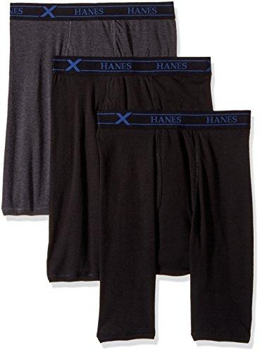 Hanes Ultimate Mens 3-Pack X-Temp Comfort Long Leg Boxer Briefs