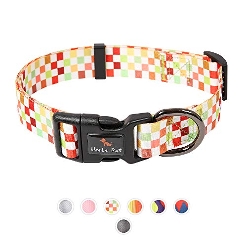 RAINDEE Dog Collar with Safety Locked Buckle,adjusttable pet cat Dog Collar for Small Medium Large Dogs (Small, Color 4)
